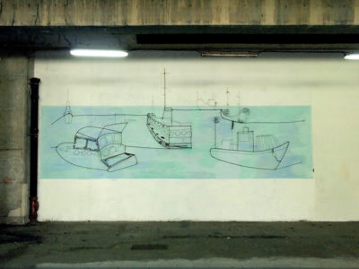 525cm x 850cm, wire and paint on the wall