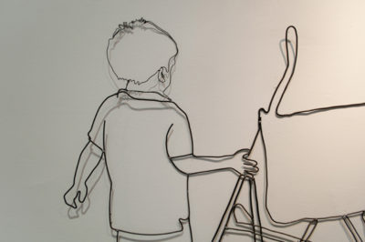 100cm x 300cm, wire on the wall