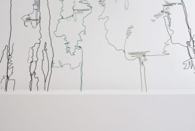 Wire, spray paint and wooden plinth, 210 x 230 x 25 cm, 2015
