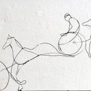 Horses, 30cm x 100cm, wire, 2009