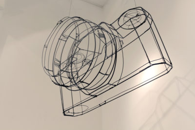 Armature, wire and spray paint, 115 x 60 x 67 cm