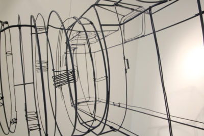 Armature, wire and spray paint,, 115 x 60 x 67 cm