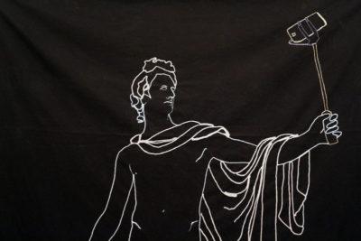Wool on fabric, 180 x 150 cm