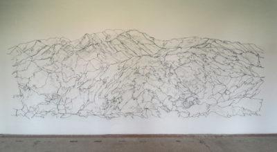 Wire, 560 x 200 x 0,3 cm, 2018